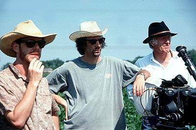 Writer Ethan Coen , director/writer Joel Coen and cinematographer Roger Deakins in Touchstone's O Brother, Where Art Thou