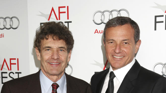 """Chairman of the Walt Disney Studios Alan Horn and President and CEO of The Walt Disney Company Bob Iger arrives at the """"Lincoln"""" premiere at AFI Fest at Grauman's Chinese Theatre on Thursday November 8, 2012 in Hollywood, California.   (Photo by Todd Williamson/Invision/AP Images)"""