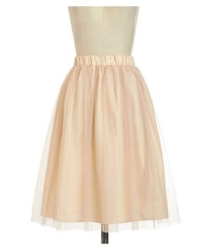 Modcloth Going Tulle Be Lovely Skirt in Gold