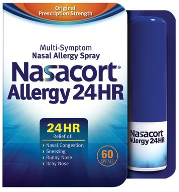 Nasacort Allergy 24HR Nasal Spray is now available without a prescription.