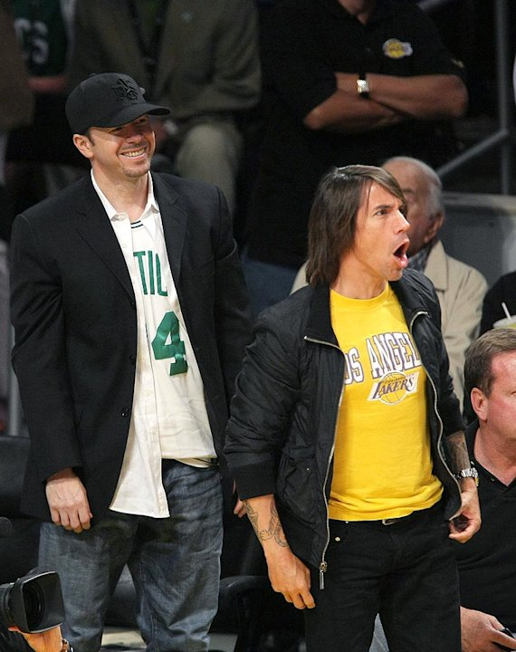Wahlberg Kiedis Lakers Finals