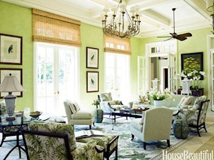 Bold Green Sunroom