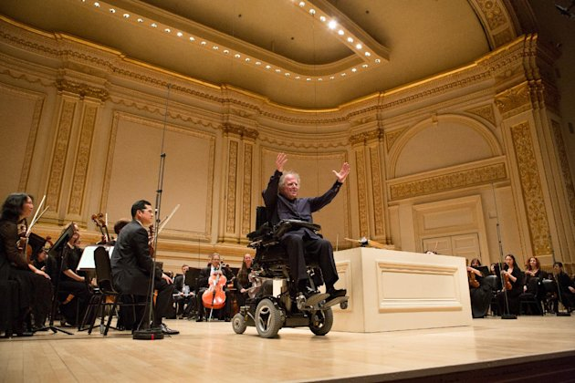 Metropolitan Opera Music Director James Levine leads the MET Orchestra in a concert at Carnegie Hall in New York on Sunday, May 19, 2013. The Sunday, May 19 concert by the MET Orchestra at Carnegie Ha