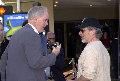 John Lithgow and Steven Spielberg at the Westwood, CA premiere of DreamWorks Pictures' Shrek