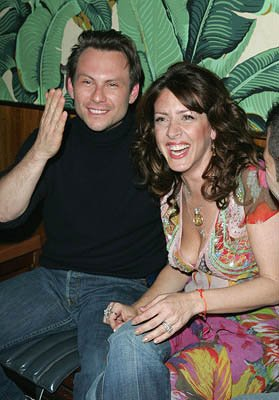 Christian Slater and Joely Fisher Slingshot premiere - Tribeca Film Festival April 26, 2005 - New York, NY