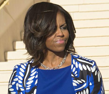 Michelle Obama Is Not Amused While Meeting New King of Saudi Arabia: Photos