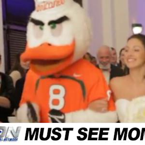 Sebastian The Ibis Walks Beautiful Bride Down The Aisle | ACC Must See Moment