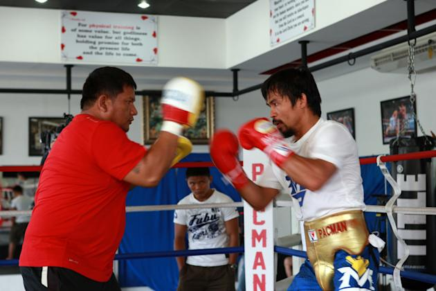Manny Pacquiao Training Session