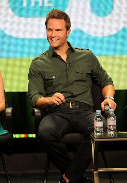 Scott Porter speaks during the 'Hart of Dixie' panel during the CW portion of the 2011 Summer TCA Tour held at the Beverly Hilton Hotel on August 4, 2011 in Beverly Hills, California.