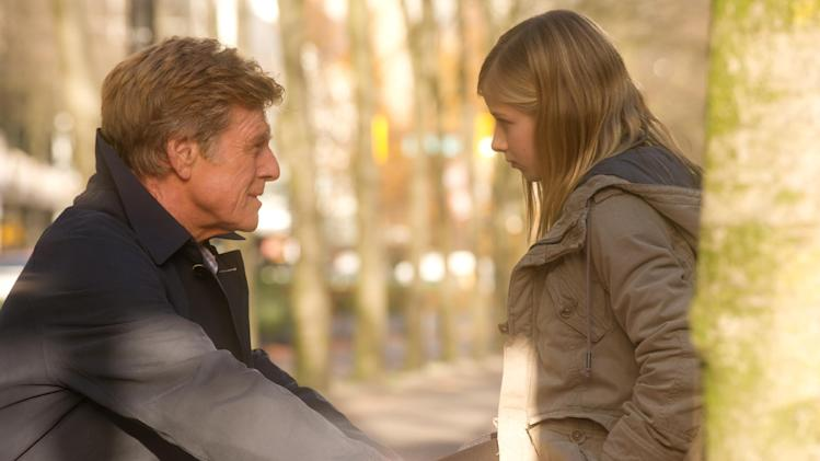"This film image released by Sony Pictures Classics shows Robert Redford, left, and Jackie Evancho in a scene from ""The Company You Keep."" (AP Photo/Sony Pictures Classics, Doane Gregory)"