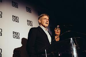Harrison Ford Pays Tribute to Joan Didion, and His Carpenter Past, During PEN Lit Awards