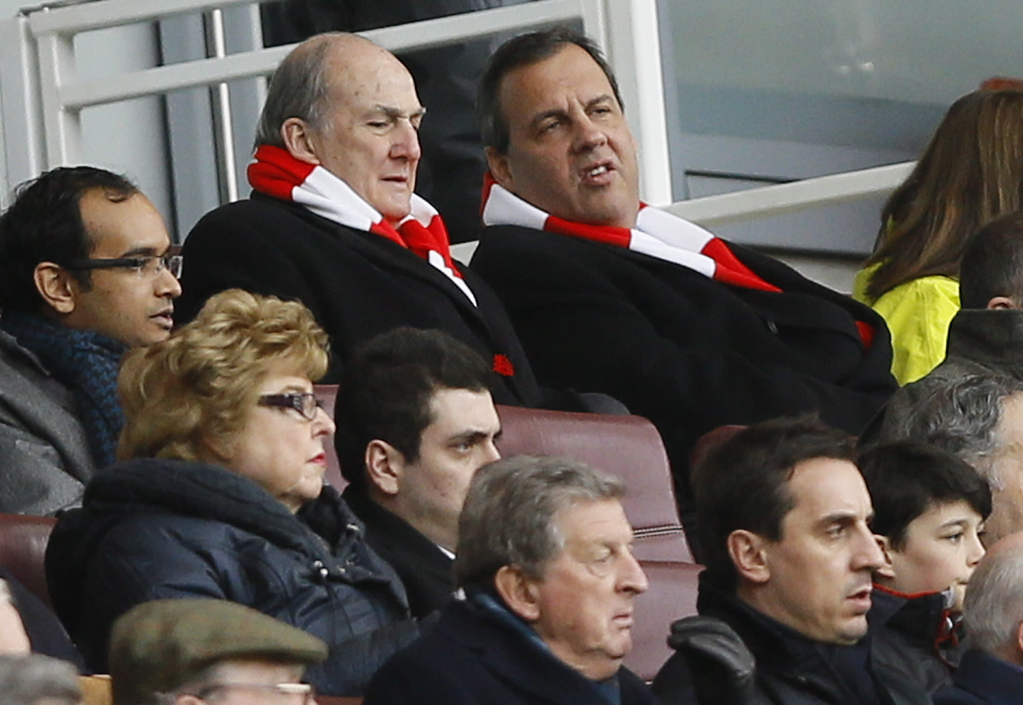 Christie begins trip to London with soccer, not politics