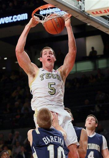 Georgia Tech pulls away from Chattanooga 74-58