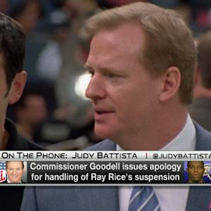 NFL Commissioner Roger Goodell issues apology for the league's handling of Ray Rice's suspension