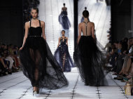 The Jason Wu Spring 2013 collection is modeled during Fashion Week in New York, Friday, Sept. 7, 2012. (AP Photo/Richard Drew)