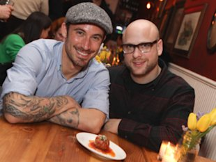From left: Michael Chernow and Daniel Holzman at their restaurant, The Meatball Shop.