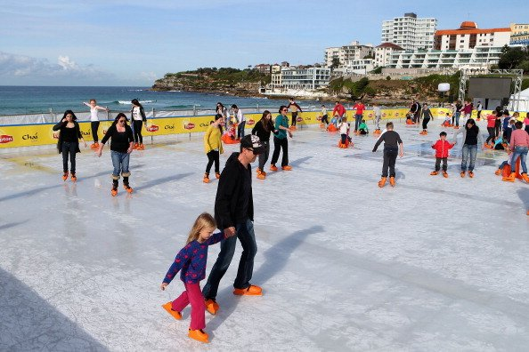 A general view of the Bondi Beach Ice Rink on July 10, 2012 in Sydney, Australia. One of the most popular attractions of the annual winter festival, the beach ice rink opened to the public last week c