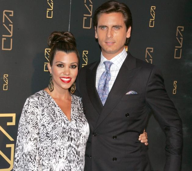 Kourtney Kardashian and Scott Disick attend the grand opening of RYU in New York City on April 23, 2012 -- WireImage