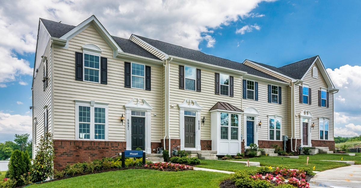 New Three-Level Townhomes in Frederick