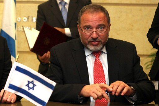 Israeli Foreign Minister Avigdor Lieberman, seen here in 2011, left for a three-day visit to Italy, where he will meet his Italian counterpart and Prime Minister Mario Monti