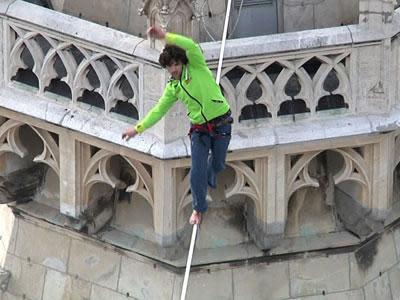 High Wire Spectacle Thrills Crowd in Austria