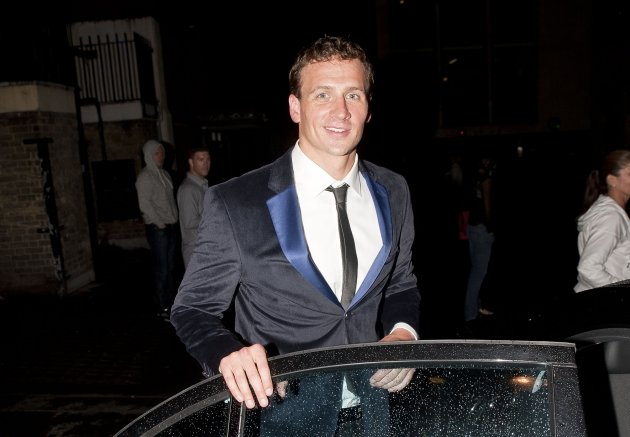 Ryan Lochte seen in London on August 7, 2012 -- Getty Premium