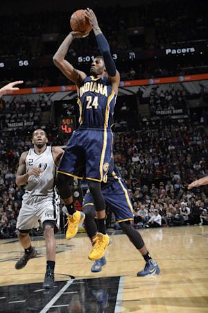 George, Pacers power past Spurs 111-100