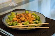Tofu and Snow Pea Stir-Fry Salad