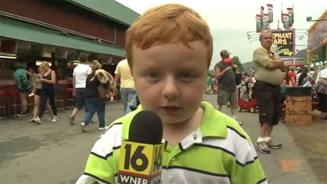 """Apparently"" Pa. kid has never been on live TV"