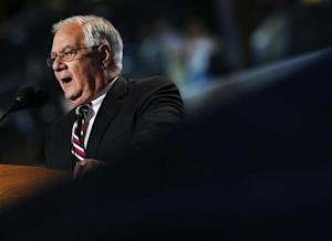 Rep. Frank speaks during the final session of the Democratic National Convention in Charlotte