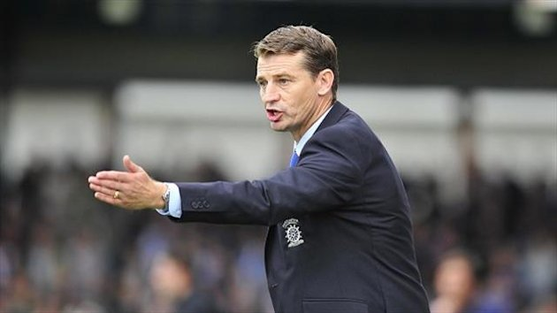 Colin Cooper has won October's League Two Manager of the Month award