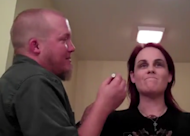 husband does wife's make-up