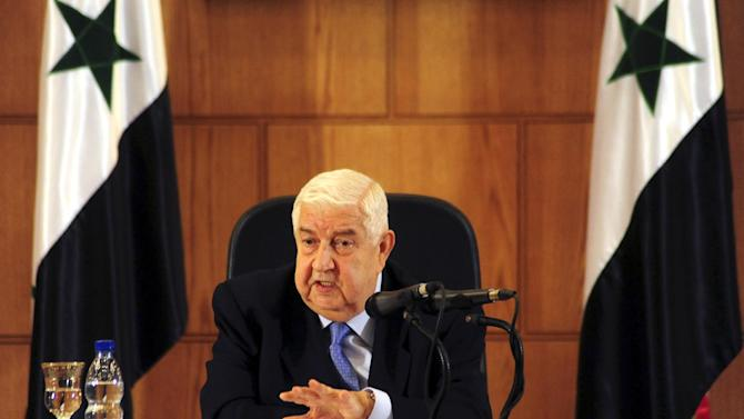 Syrian Foreign Minister Walid al-Moallem