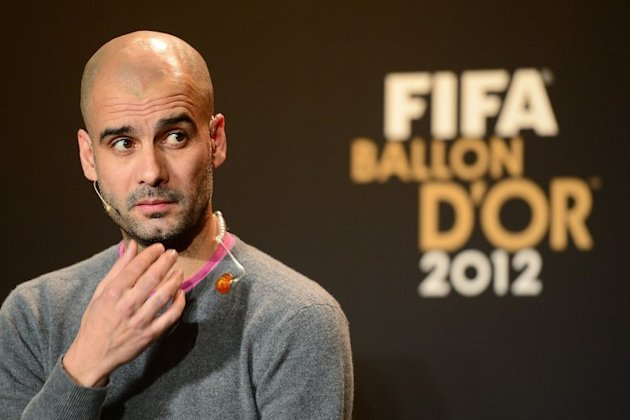 Pep Guardiola in Zurich on January 7, 2013 at the FIFA Ballon d'Or awards, for which he was shortlisted