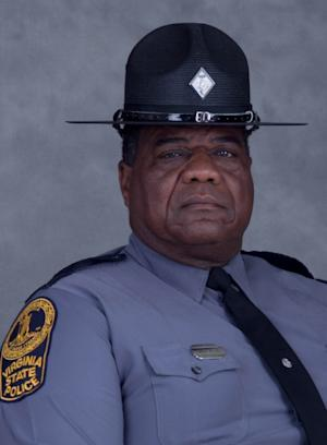 This photo provided by the Virginia State Police shows Master Trooper Junius Walker.  Virginia Gov. Bob McDonnell says Walker, who was involved in a shooting along Interstate 85 in southeastern Virginia has died. McDonnell says he was shot while on duty on Thursday, March 7, 2013. (AP Photo/Virginia State Police)