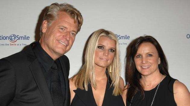 Joe Simpson, Jessica Simpson and Tina Simpson arrives at Operation Smile's 8th Annual Smile Gala at The Beverly Hilton Hotel in Beverly Hills, Calif. on October 2, 2009 -- Getty Premium