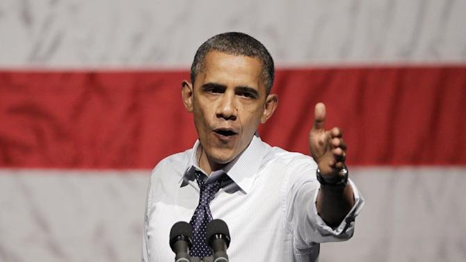 In this July 23, 2012 file photo, President Obama gestures at a campaign stop in Oakland, Calif. (AP Photo/Paul Sakuma, File)