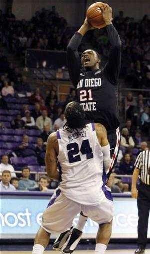 No. 21 SDSU beats TCU in OT for share of MWC title