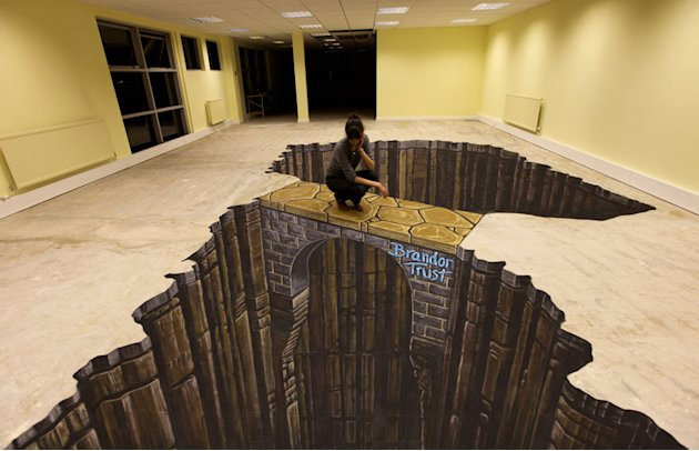 best 3 d atreet art painting