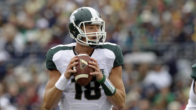 Cook remains starting QB for Michigan St