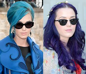 Katy Perry Dyes Her Hair Purple!
