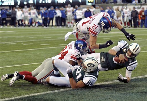 Cruz, Bradshaw lead Giants past Jets 29-14