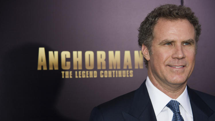 "FILE - In this Dec. 15, 2013 file photo, Will Ferrell attends the ""Anchorman 2: The Legend Continues"" premiere in New York. With nearly every joke substituted for a new one, ""Anchorman 2: The Legend Continues"" will return to movie theaters for one week. Paramount Pictures announced Friday, Feb. 21, 2014, that an R-rated version of ""Anchorman 2"" with 763 new jokes will play in the U.S. and Britain beginning February 28. Director Adam McKay improvises heavily while making a film, and found he could swap out practically every joke in the film for an alternative.(Photo by Charles Sykes/Invision/AP)"