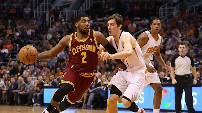This isn't the first time Kyrie Irving and Goran Dragic crossed paths, nor will it be the last. (Getty Images)