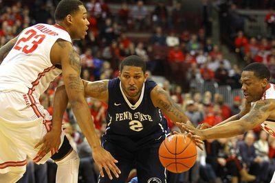 This offensive foul on Penn State might be the worst foul ever
