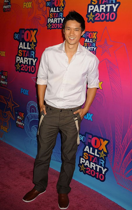 &quot;Glee's&quot; Harry Shum Jr. arrives at the Fox 2010 Summer TCA All-Star Party on August 2, 2010 in Santa Monica, California. 
