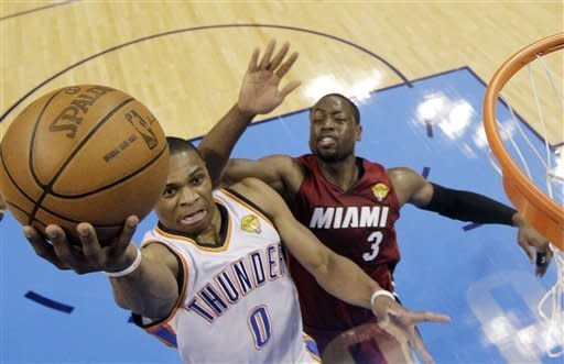 Durant powers Thunder past LeBron's Heat 105-94