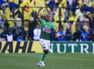 Chilean footballer Humberto Suazo of Monterrey celebrates after scoring during a Mexican Clausura tournament match on April 1. Suazo struck twice in the second half to give Monterrey a 2-0 victory over Santos in the first leg of the CONCACAF Champions League final