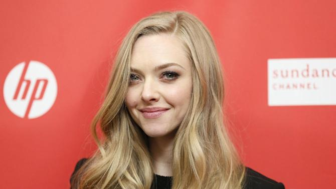 "Cast member Amanda Seyfried poses at the premiere of ""Lovelace"" during the 2013 Sundance Film Festival on Tuesday, Jan. 22, 2013 in Park City, Utah. (Photo by Danny Moloshok/Invision/AP)"