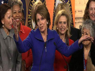 """Raw: Pelosi laughs off """"offensive"""" age question"""
